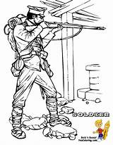 Coloring War Soldier Army Military Allied Pages Colouring Boys Yescoloring Historic sketch template