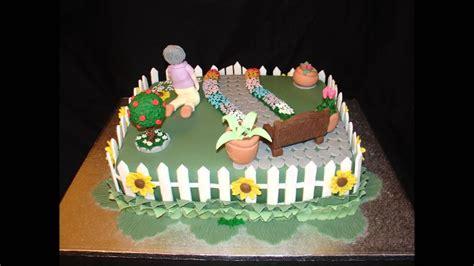 garden theme  birthday fondant cake youtube