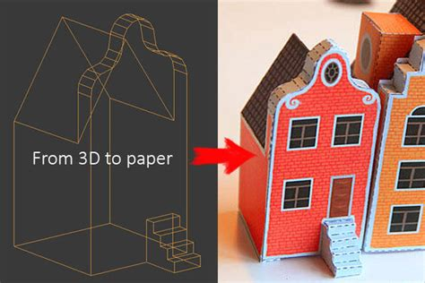 [new Paper Craft] From 3d Model To Papercraft Template