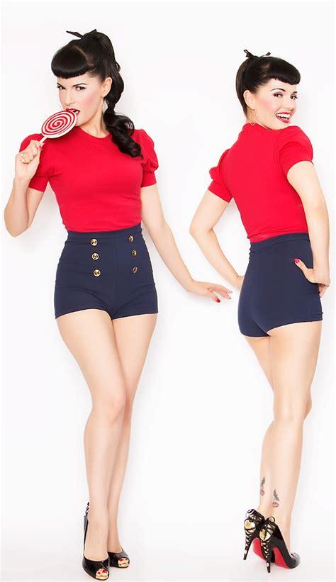 Bernie Dexter - Bernie Dexter 40s 50s Style Sailor Pin Up Grable Shorts Bernie Dexter 40s Style ...