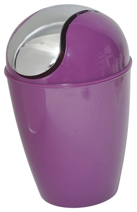 chrome bathroom trash can with lid bathroom trash can with chrome lid purple