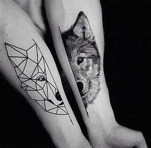 Tatouage Loup Geometrique : image result for tatouage homme loup geometrique tattoo ~ Melissatoandfro.com Idées de Décoration