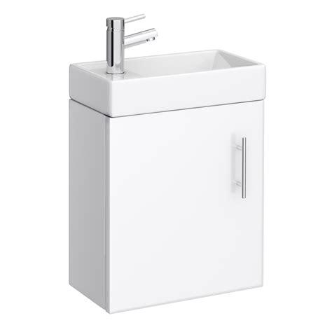 bathroom wall hung cabinets minimalist gloss white wall hung basin and cabinet o 11868