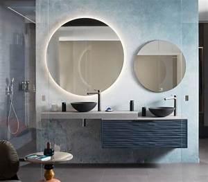 Miroir Rond Salle De Bain : salle de bains design boudoir et miroirs perene ~ Nature-et-papiers.com Idées de Décoration