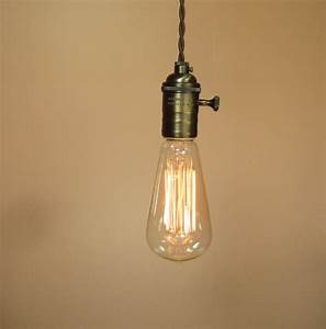 Pendant lighting bulbs : Farmhouse style rustic bare bulb pendant light with feet of