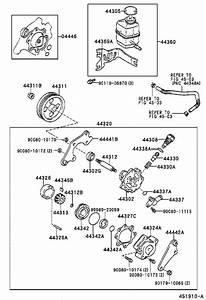 Toyota Avalon Power Steering Pump Bracket  Rear   Illustration  Suspension  Brakes