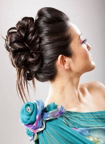 ideas  thick hair updo  pinterest simple