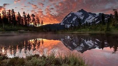 Nature Lake Mountain Landscape Dual Monitor Mountains