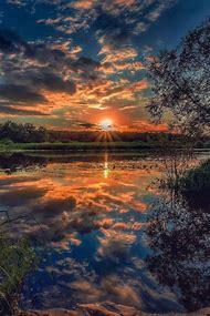 Beautiful Landscape Sunrise Sunset