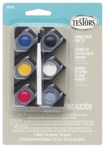 testors 174 6 color acrylic paint pod primary colors at menards 174