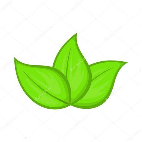 dibujos hojas verdes dibujo icono de hojas verdes estilo de dibujos animados vector de