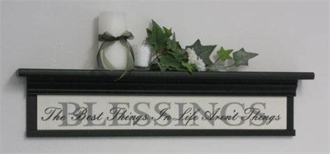"Blessings Home Decor: Blessings Home Decor Wall Shelf 30"" Black From NelsonsGifts On"