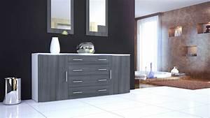 Tv Sideboard Weiß Hochglanz : sideboard kommode tv board schrank anrichte faro v2 wei hochglanz naturt ne ~ Orissabook.com Haus und Dekorationen