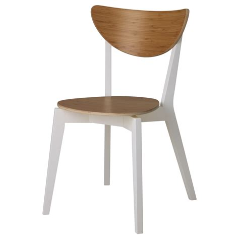 chaise bistrot blanche nordmyra chair bamboo white ikea