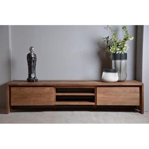 meuble tv teck dbodhi 180 achat vente meuble tv meuble tv teck dbodhi 180 cdiscount