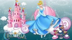 Castle, Of, Princess, Cinderella, Cartoon, Walt, Disney, Desktop