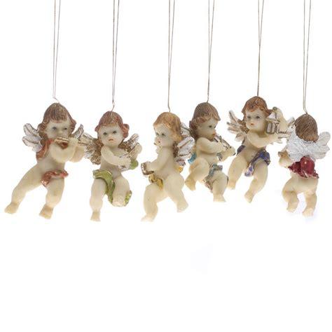 musical cherub angel ornaments christmas miniatures