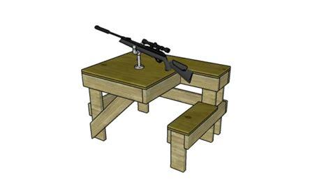 shooting table plans myoutdoorplans  woodworking