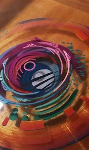 3D Painting: Layered Resin and Acrylic Paint   Résine ...