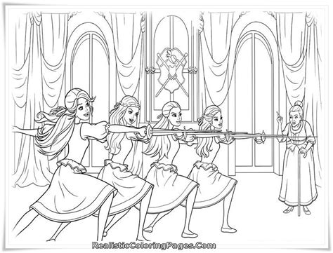 Printable Coloring Pages Barbie Three Musketeers