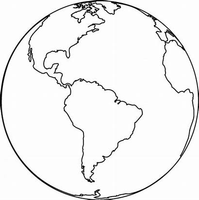 Earth Coloring Pages Printable Globe Sheets Map