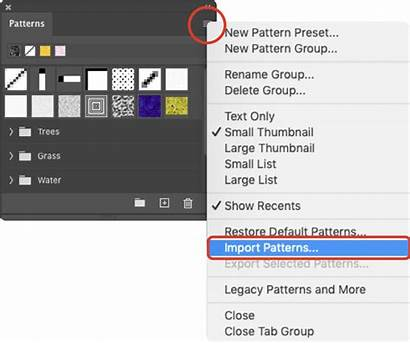 Patterns Photoshop Install Import Pat Open Texture
