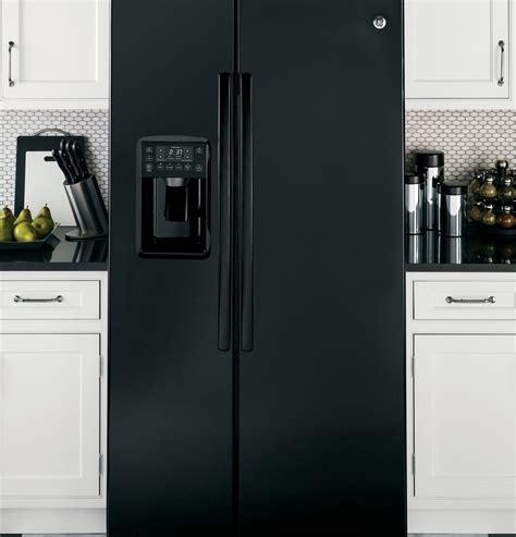 psekghbb ge profile series  cu ft side  side refrigerator black