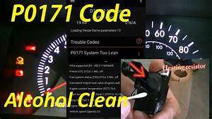 Toyota Corolla Check Engine Light  Code  P0171  Clean Maf