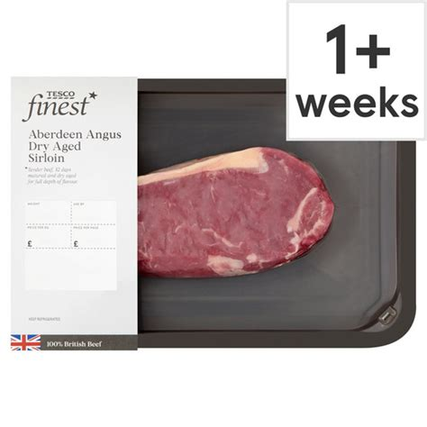 A succulent and classic cut of simpsons locally sourced grass fed beef dry aged between 30 and 45 days to enhance an already great taste. Tesco Finest Dry Aged Sirloin Steak - Tesco Groceries