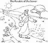 Sower Parable Coloring Pages Bible Crafts Google Puzzles sketch template