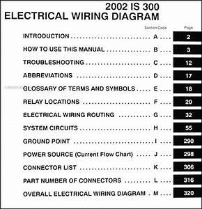 2002 Lexus Is 300 Wiring Diagram Manual Original