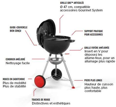 barbecue weber charbon utilisation barbecue weber charbon de bois quot kettle plus quot 47 cm 224 petit prix