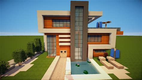 Minecraft Moderne Häuser Bilder gro 223 es sch 246 nes modernes minecraft haus bauen tutorial