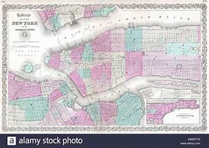 English  This Is A Beautiful J  H  Colton Map Of New