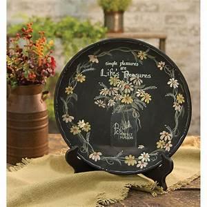Country, Cottage, Farmhouse, Mason, Jar, Flower, Wooden, Home, Decor, Plate