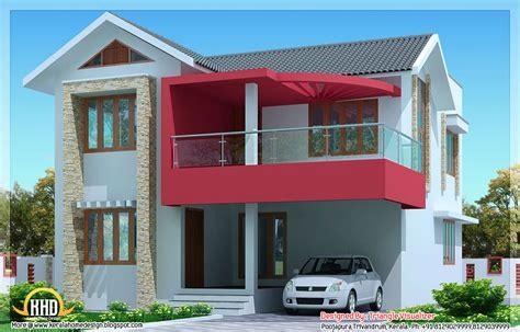 Home Design Visualiser : 2030 Sq.feet Simple Modern House In Trivandrum, Kerala