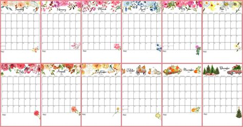 Weekly schedule available in 14 different colors. 2021 Free Printable Monthly Calendar & Planner Pages   On ...