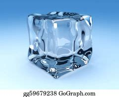 clip art  melting colored ice cubes stock