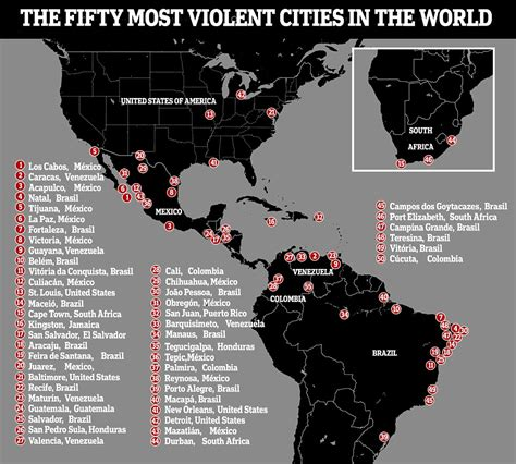 The 50 Most Dangerous Cities In The World Revealed Daily