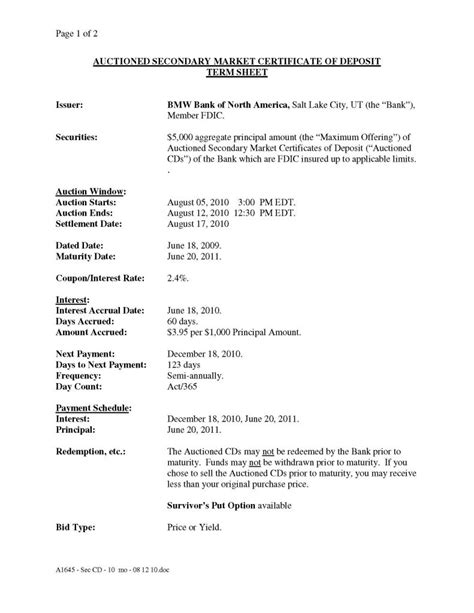 bank auction certificate template  format