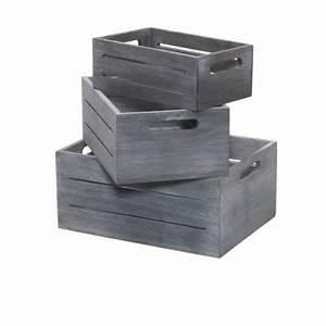 Caisse Bois Rangement : lot de 3 caisses gigognes en bois castorama ~ Teatrodelosmanantiales.com Idées de Décoration