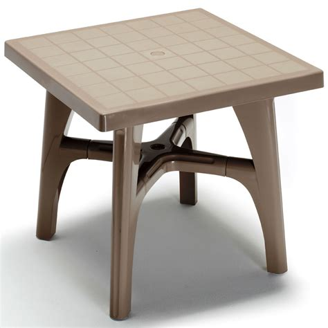 Quadramax 80cm Square Table Garden Small Plastic Table