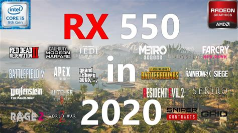 RX 550 Test in 19 Games in 2020 YouTube