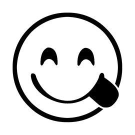 emoji delicious stencil  stencil gallery