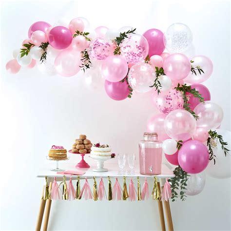 kit arche ballon rose mariage anniversaire bapteme pas