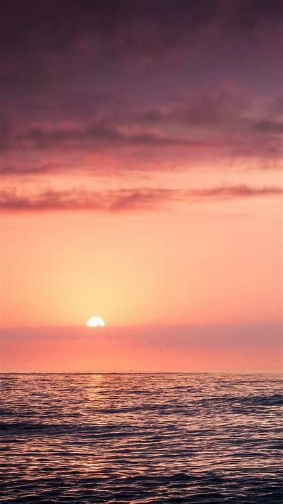Sunset Sky Beach Sea Iphone Papers Se