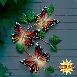 Wanddeko Für Garten : wanddeko solarleuchte schmetterling online kaufen bei ~ Watch28wear.com Haus und Dekorationen