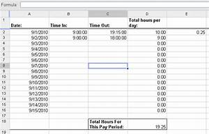 google sheets automatically calculate overtime hours With template to calculate hours worked