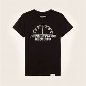 4 to the floor fourth floor records mens t shirt black With fourth floor records