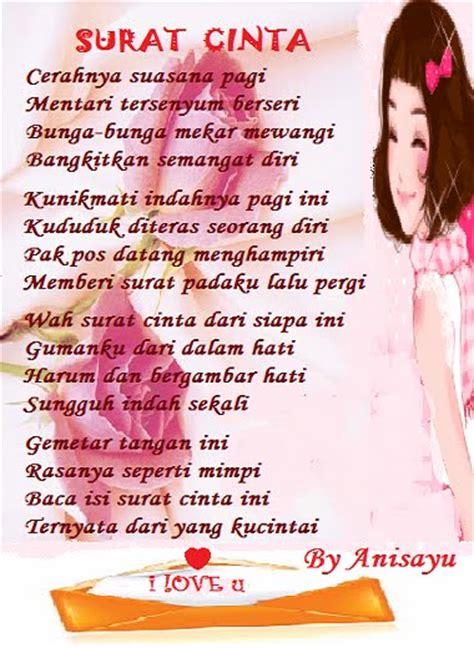 Contoh Surat Cinta Lucu by Puisi Cinta By Anisayu Surat Cinta
